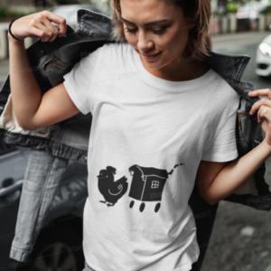 Tee shirt Femme Roulotte Cocotte logo