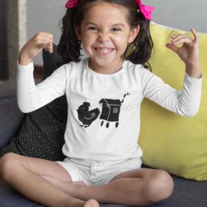 Tee shirt Enfant Roulotte Cocotte logo