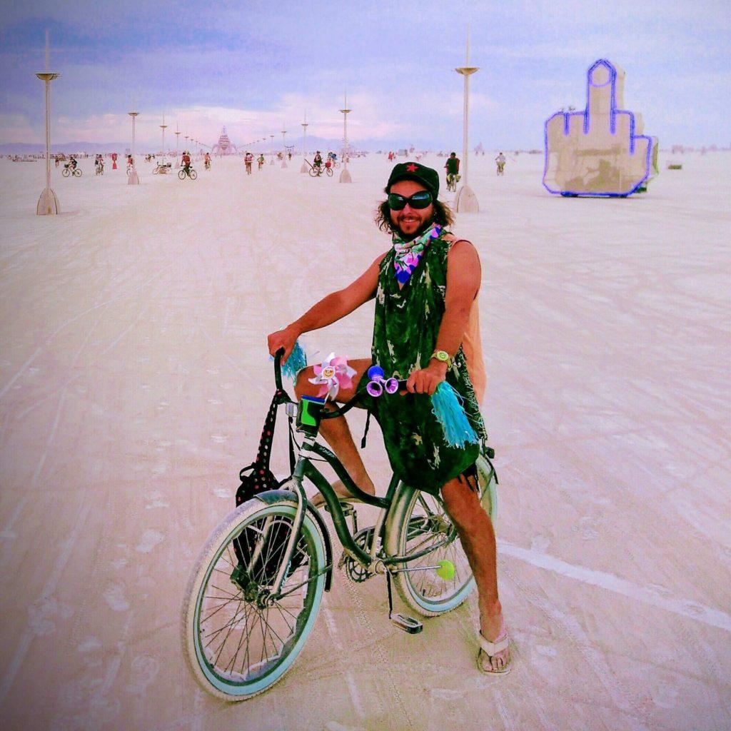 Martin Trystram à Burning Man, été 2019